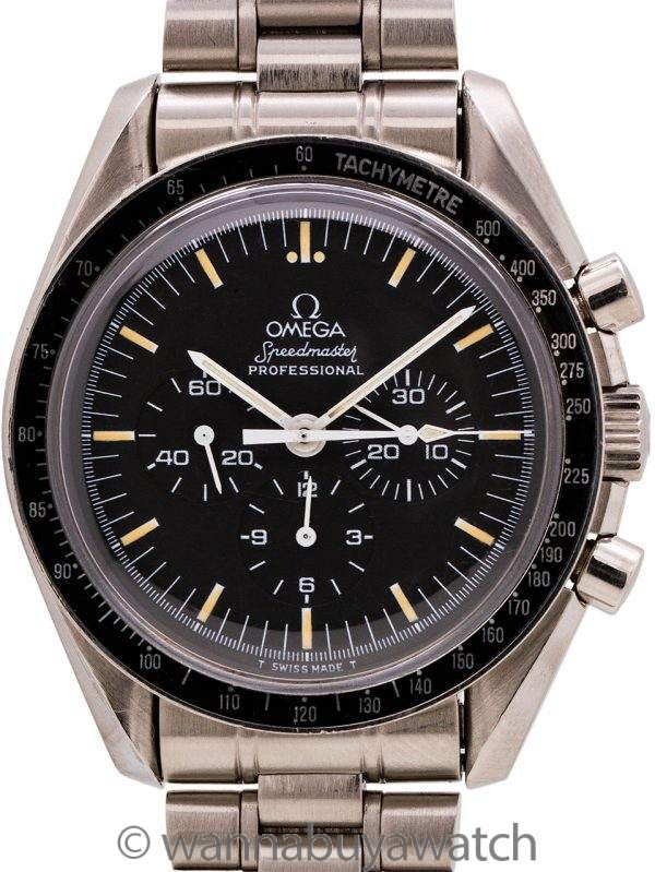 """Omega Speedmaster """"Moonwatch"""" ref 145.022 """"Tritium"""" circa 1988"""