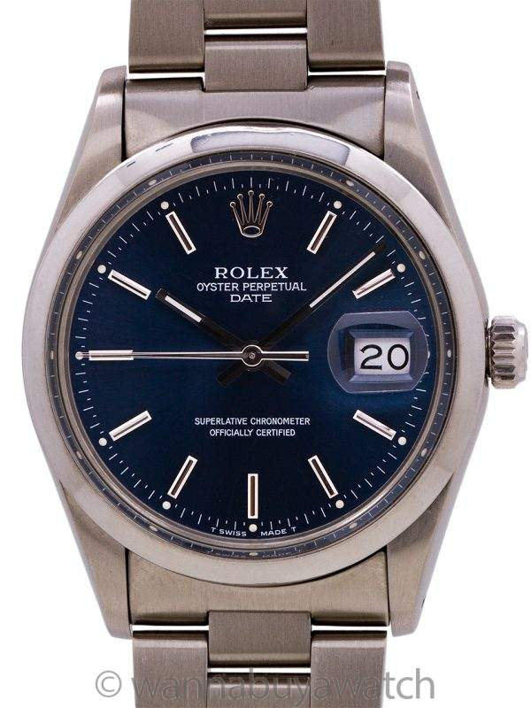 Rolex Oyster Perpetual Date ref 15000 circa 1982 with Papers