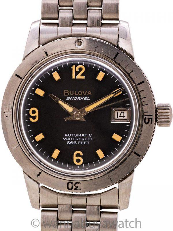 "Bulova Diver's ""Snorkel"" ref# 386 666 feet circa 1960's"