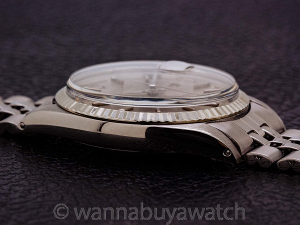 Rolex Datejust ref 1601 SS/14K WG Gray Pie Pan Dial circa 1970