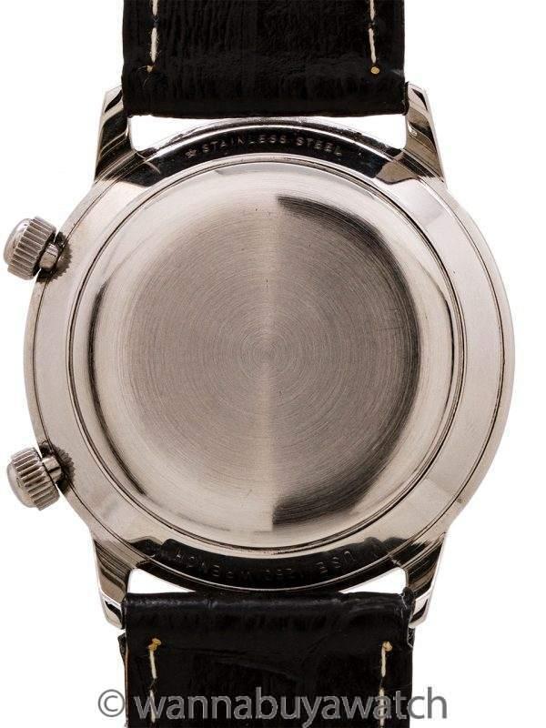 Lecoultre Memovox Alarm Stainless Steel circa 1960's