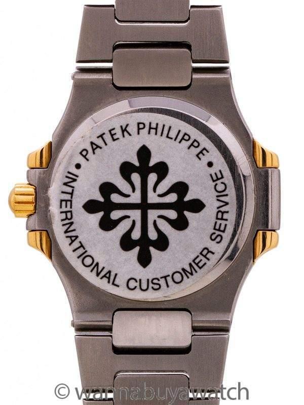 Patek Philippe Nautilus Lady's ref# 4700 SS/18K YG circa 1980's