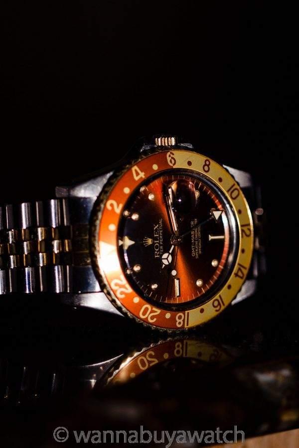 Rolex GMT ref 16753 SS/14K YG Rootbeer circa 1983