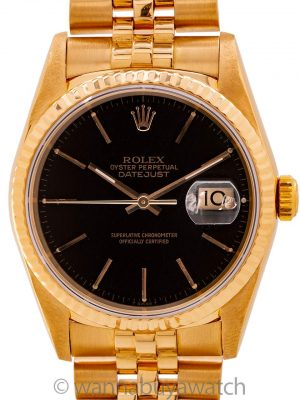 Rolex 18K YG Datejust ref 16238 circa 1990 Box & Papers