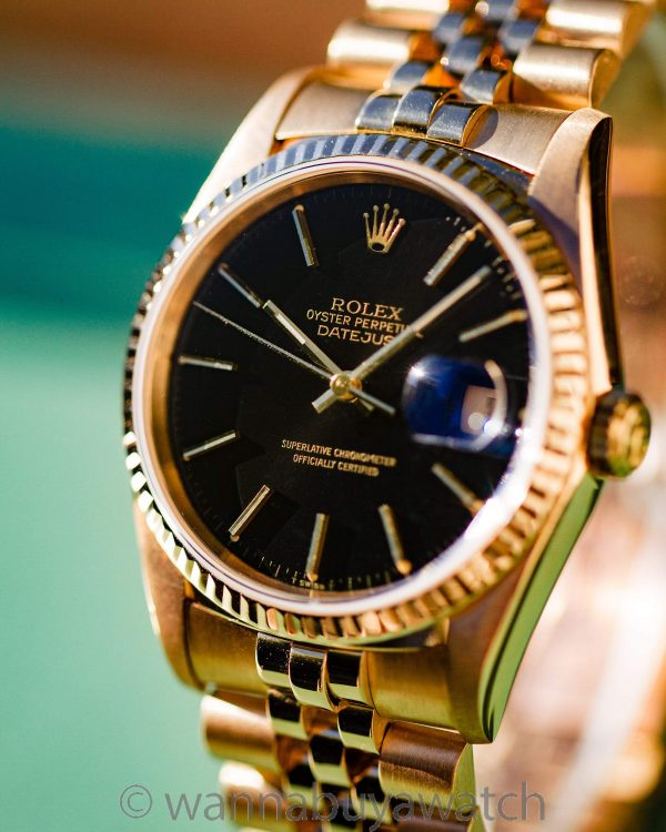 Rolex 18K YG Datejust ref 16238 circa 1990 Box & Papers