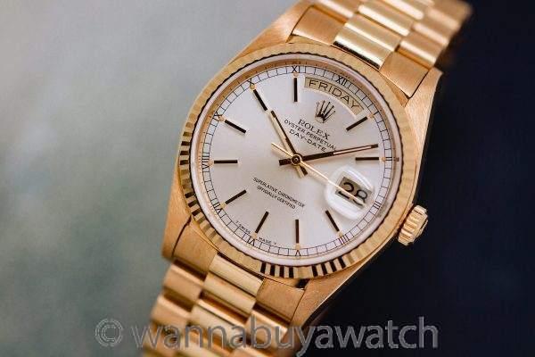 Rolex 18K YG ref 18038 Day Date circa 1986