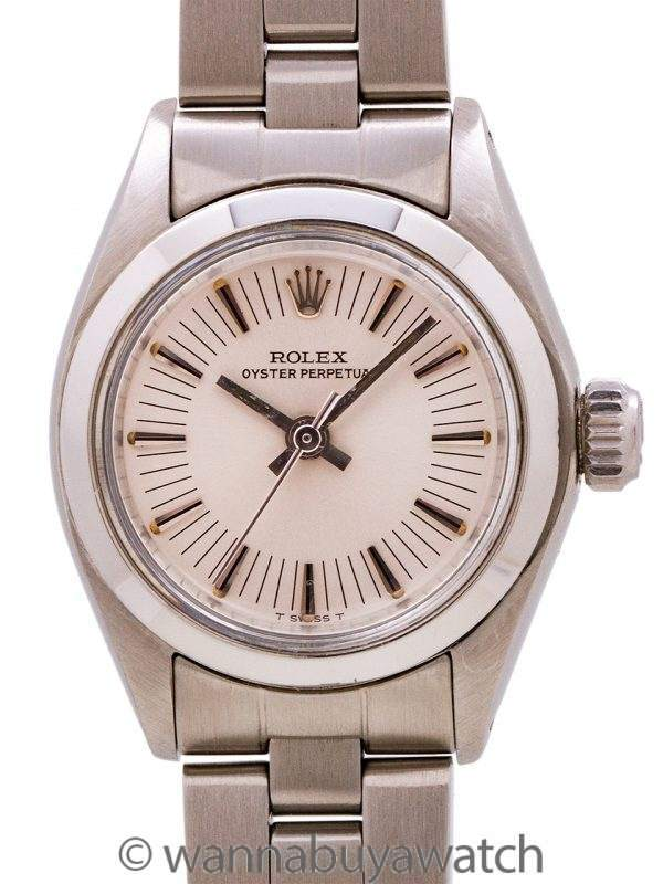 """Lady Rolex Oyster Perpetual ref 6718 """"radial dial"""" circa 1977"""