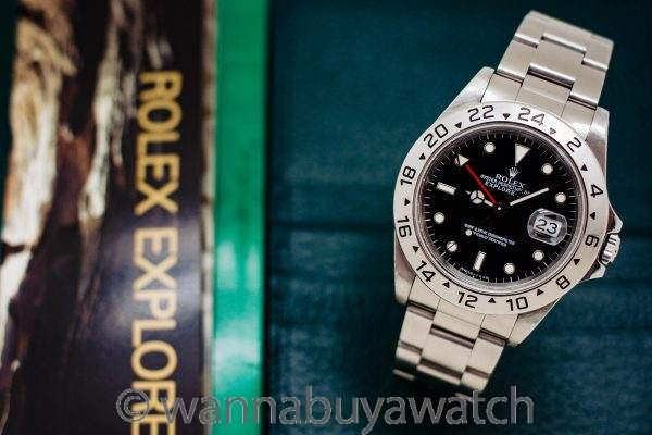 Rolex Explorer II ref 16570 Black Tritium Dial Box & Papers circa 1996