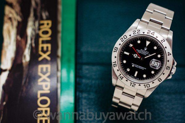 Rolex Explorer II ref 16570 Black Tritium Dial Box & Papers circa 1996