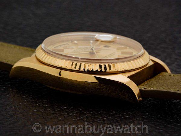 Rolex Day Date 18K YG ref 18038  circa 1983