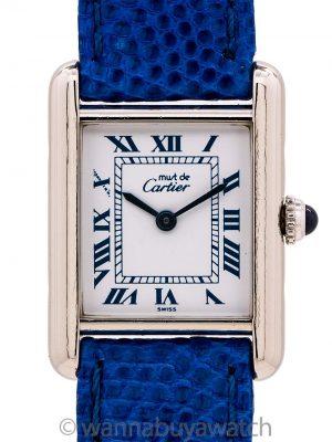 Cartier Tank Louis Lady Sterling Silver Quartz circa 1990s