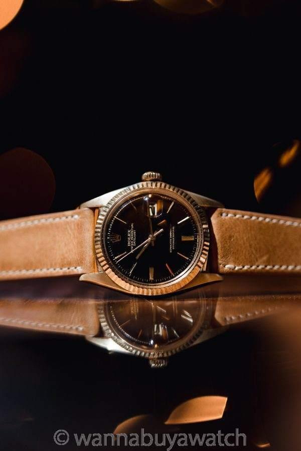 Rolex Datejust ref 1601 14K YG Tropical Dial circa 1967