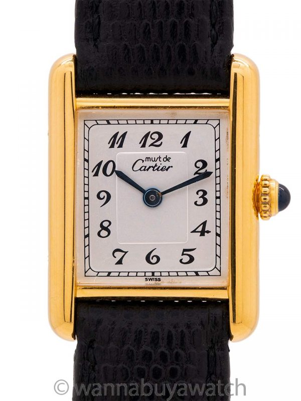 Cartier Lady's Tank Louis Scarce Arabic Number Dial circa 1980's