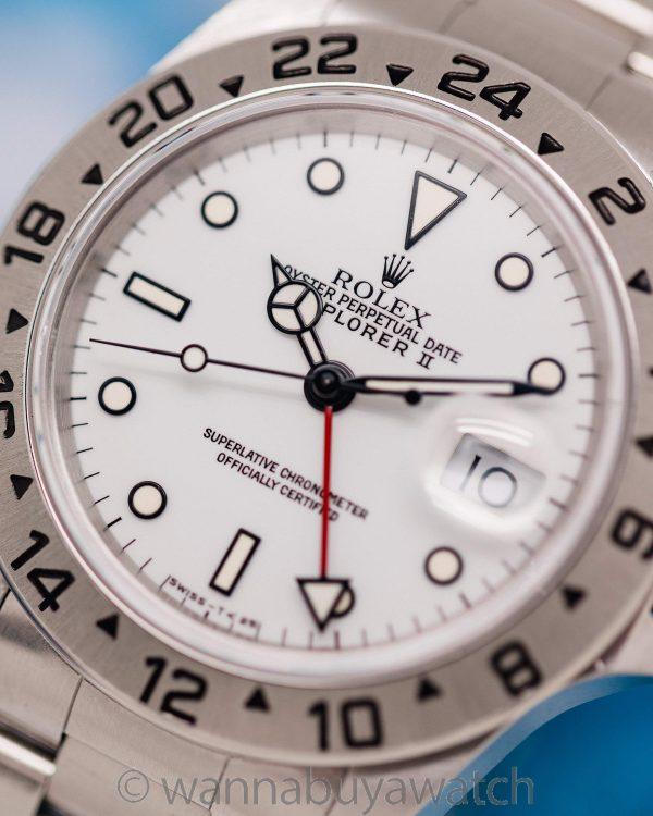 """Rolex Explorer II """"Polar"""" ref 16570 Tritium circa 1991"""
