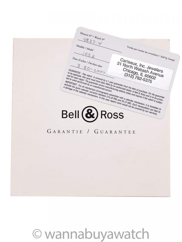 Bell & Ross Vintage Model 123B Box & Papers