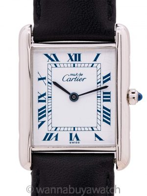 Cartier Tank Louis Man's Sterling Must de Cartier circa 1990s