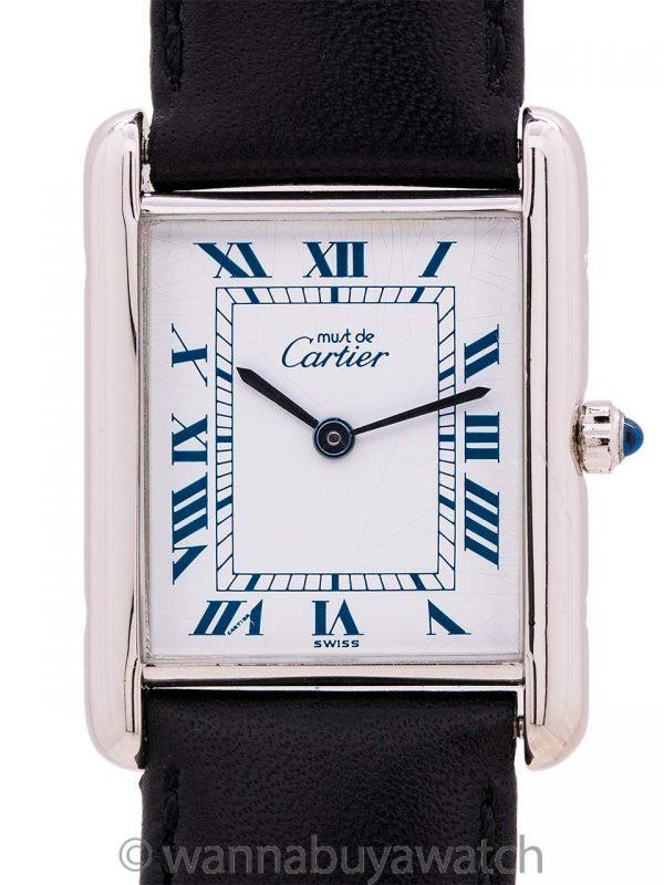 Cartier Tank Louis Man's Sterling Must de Cartier circa 1990s