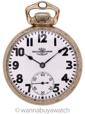 Ball Official Standard Railroad Pocketwatch circa 1930