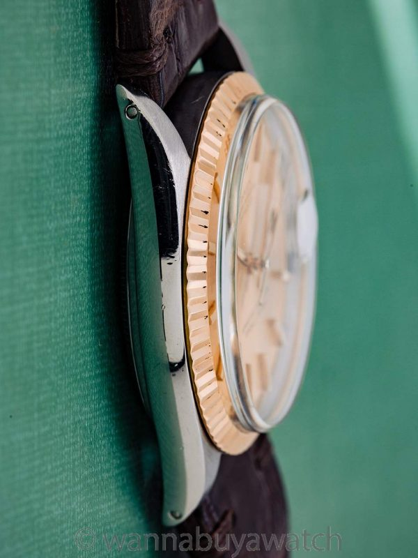 Rolex Datejust ref 1601 SS/14K YG circa 1966 Reversed Ref and Serial