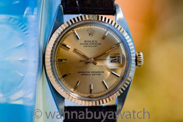 Rolex Datejust ref 1601 SS/14K YG circa 1966 Reversed Ref and Serial