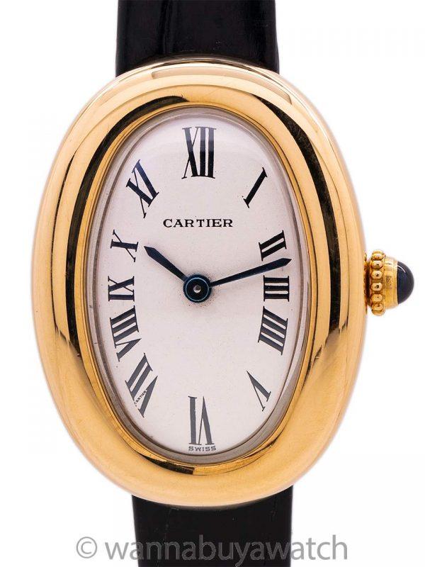 Cartier 18K YG Lady Baignoire circa 1990's