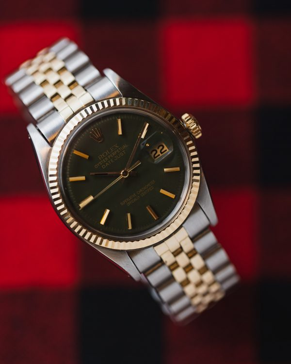 "Rolex Datejust ref 1601 SS/14K YG ""Army Green"" circa 1971"