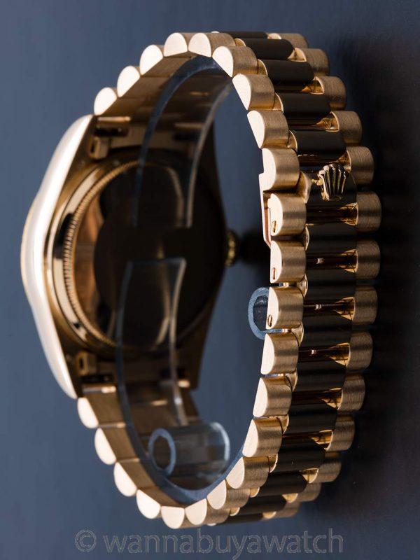Rolex ref 18038 Day Date President 18K YG Diamond Dial circa 1985