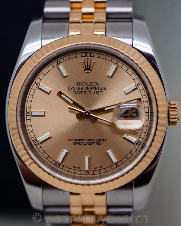 Rolex SS/18K YG Datejust ref 116233 circa 2003