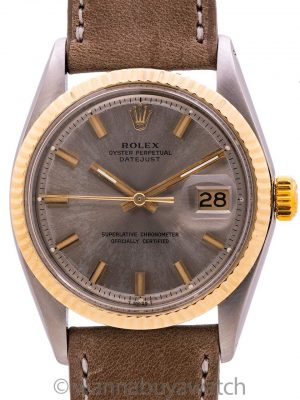 "Rolex Datejust ref 1601 SS/14K YG ""Fat Boy"" circa 1968"