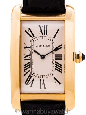 Cartier Tank American 18K YG Man's circa 1990's