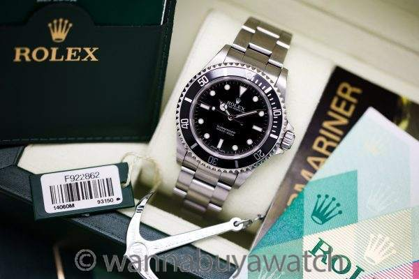 Rolex Submariner ref# 14060M circa 2005 Box & Papers