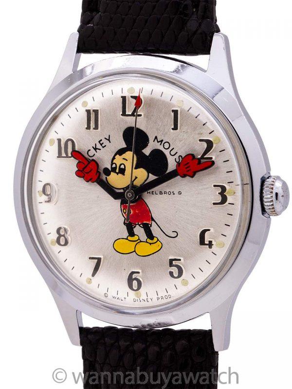 Helbros 17 Jewel Mickey Mouse circa 1960's