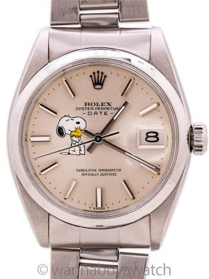 Rolex Oyster Perpetual Date ref 1500 Snoopy circa 1963