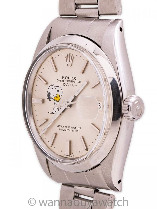 Rolex Oyster Perpetual Date ref 1500 Snoopy circa 1963