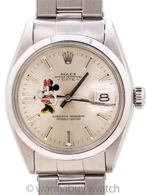 Rolex Oyster Perpetual Date ref# 1500 Minnie Mouse circa 1970