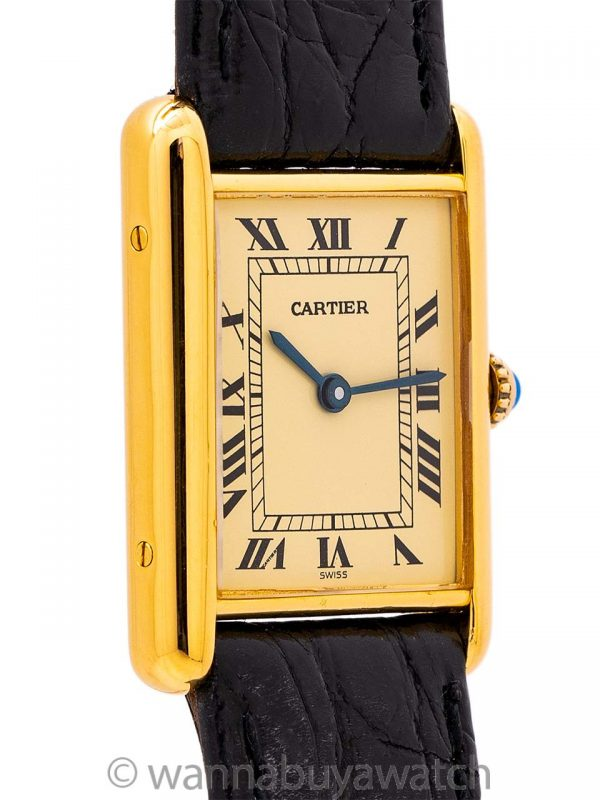 Cartier Tank Louis Man's Vermeil Quartz circa 1990's
