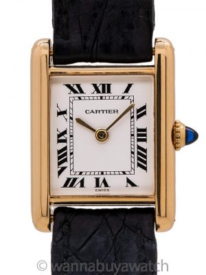 Cartier Lady Tank Louis 18K YG with 18K YG Deployment circa 1970's