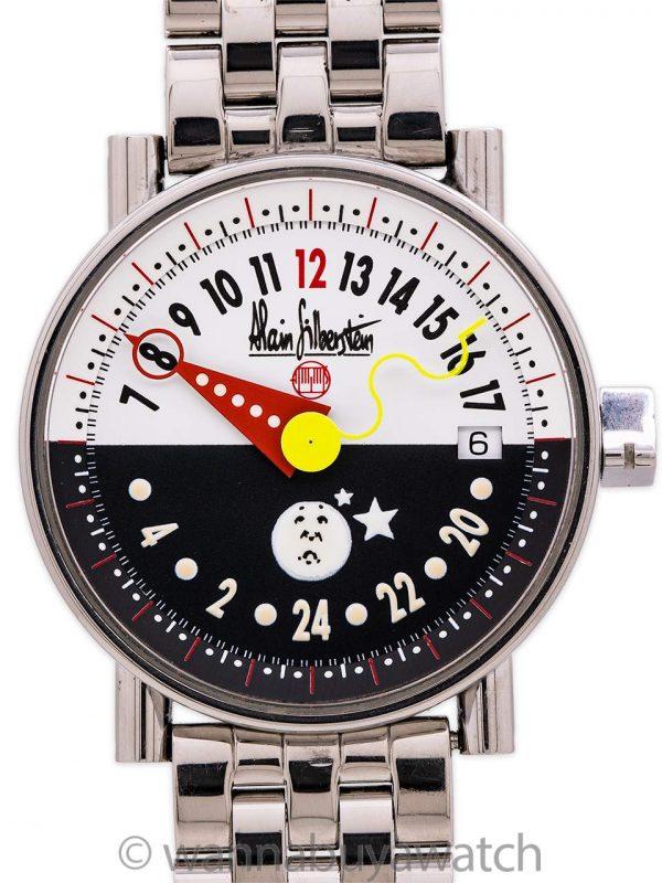 "Alain Silberstein ""24 Heures"" on Bracelet Ltd Ed 1990's"