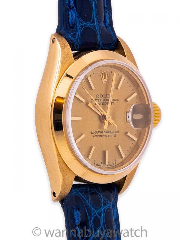 Lady Rolex Datejust ref 6916 18K YG circa 1973
