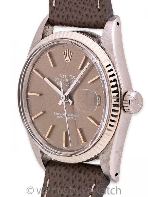 Rolex Datejust ref 16014 SS/14K WG circa 1982