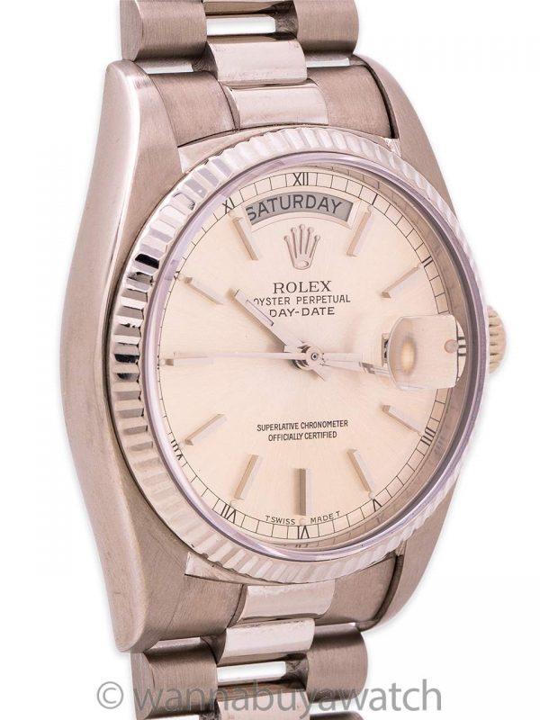 Rolex Day Date President ref# 18039 18K WG circa 1978