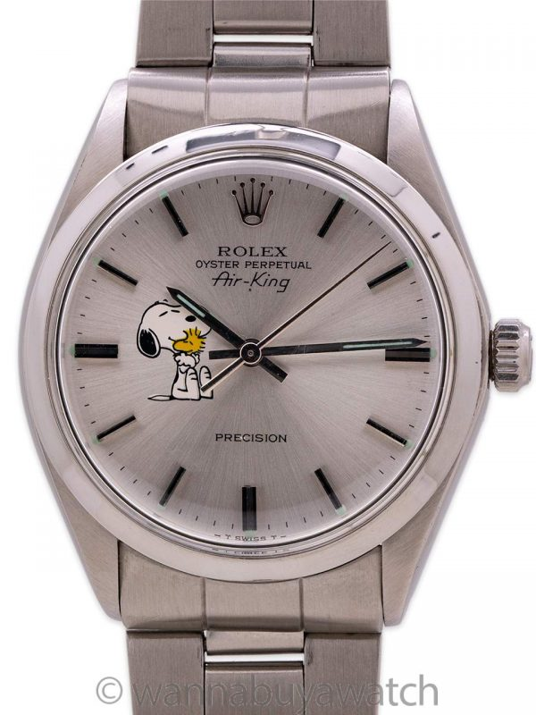 Rolex Air King ref# 5500 Custom Snoopy circa 1974