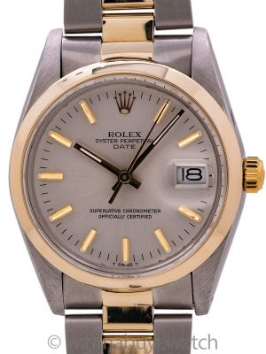 Rolex Oyster Perpetual Date ref 15003 SS/14K YG circa 1981