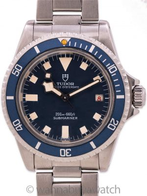 "Tudor ""Snowflake"" Submariner Blue w/ Date ref# 7021/0 circa 1969"