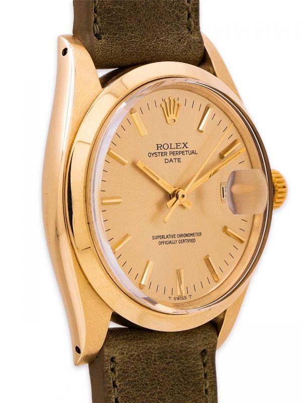 Rolex Oyster Perpetual Date ref 1500 14K YG circa 1974