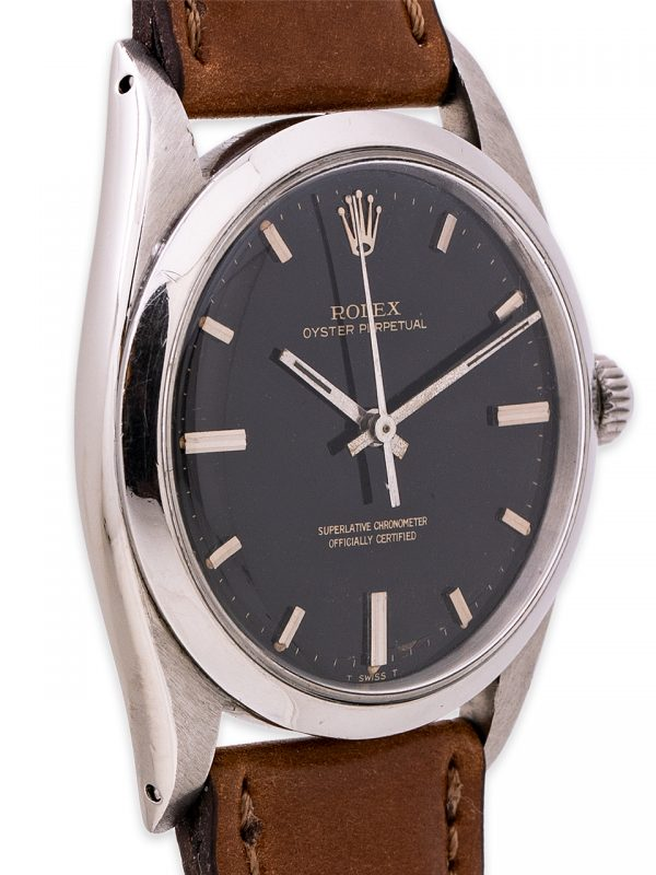 Rolex Oyster Perpetual ref 1018 Black Gilt Dial circa 1967