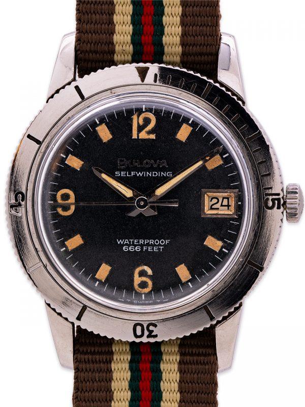 "Bulova Diver's ""Snorkel"" ref# 386-1 666 feet circa 1960's"