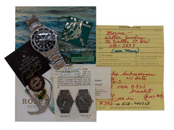 """Rolex Red Submariner ref# 1680 Original Papers """"Merry Xmas"""" 1973"""