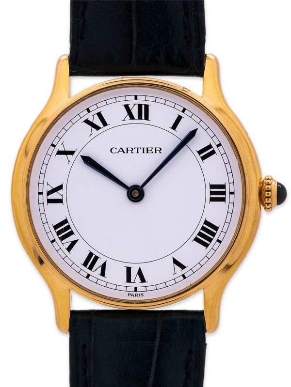 Cartier Tank Round Man's 18K YG circa 1980's