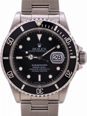 Rolex Submariner ref# 16610 Stainless Steel circa 1996 EXCEPTIONAL!
